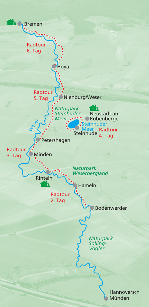 Weser Radweg Karte.Ihr Profi Für Busreisen Gruppenreisen Radreisen Und Skireisen In